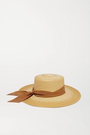 Sensi Studio | Cordovez grosgrain-trimmed two-tone toquilla straw hat | NET-A-PORTER.COM