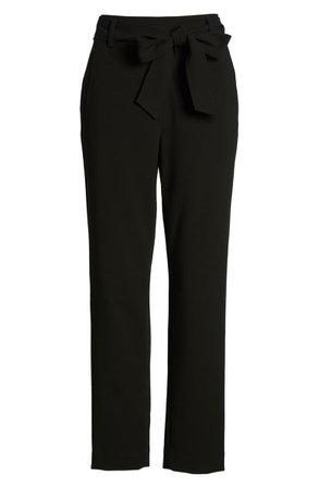 Halogen® Tie Waist Twill Pants (Regular & Petite) | Nordstrom