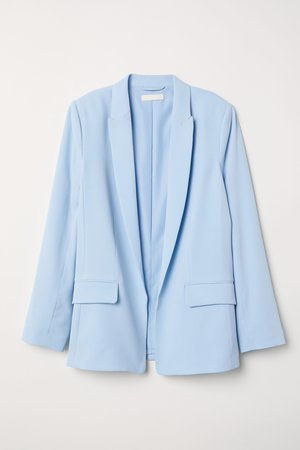 Light blue Straight-cut Jacket