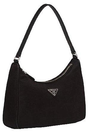 prada black baguette bag