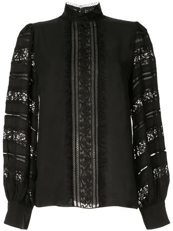 Andrew Gn Lace-Detail Blouse | Farfetch.com