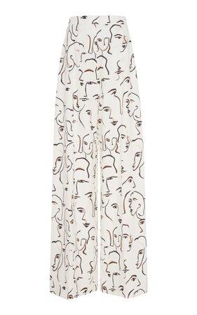 Abstract Face Wide Leg Trousers by Christian Siriano | Moda Operandi