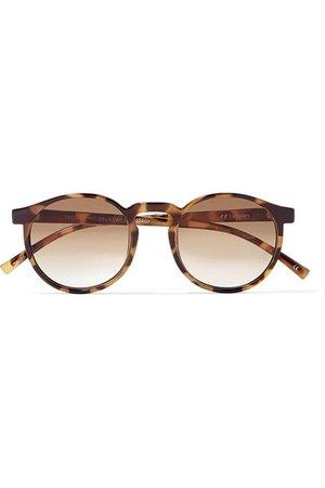 Le Specs | Teen Spirit Deux round-frame tortoiseshell acetate sunglasses | NET-A-PORTER.COM