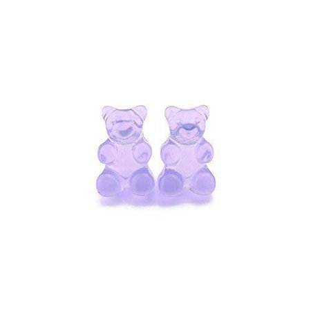 Amazon.com: Invisible Clip On Gummy Bear Earrings for Non-Pierced Ears, Purple: Handmade