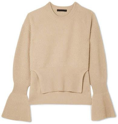 Alexander Wang - Ribbed-knit Sweater - Beige