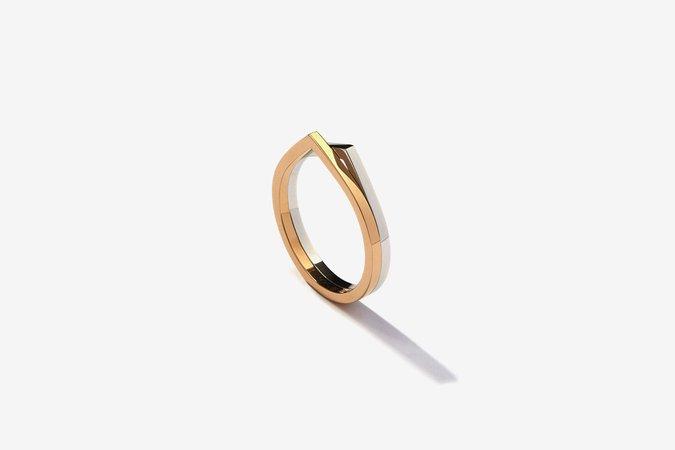 Repossi Antifer 2 Rows Bicolor Ring
