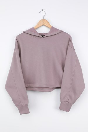 Lavender Lounge Hoodie - Cute Cropped Hoodie - Hooded Sweatshirt