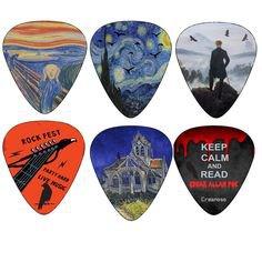 Pinterest (Pin) (7) art guitar picks