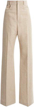 Jacquemus Sauge Linen-Blend Wide-Leg Trousers