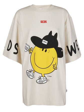 GCDS Grey Cotton T-shirt