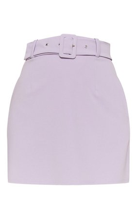 Lilac Belted A Line Mini Skirt | Skirts | PrettyLittleThing