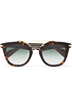 rag & bone   Cat-eye tortoiseshell acetate and gold-tone sunglasses   NET-A-PORTER.COM