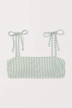 Padded Bandeau Bikini Top - Green