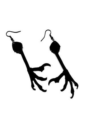 Crow Claw Earrings – Curiology Ltd