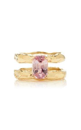 Fie Isolde Odette Pink Sapphire Ring Size: 4.5
