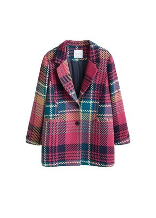 Violeta BY MANGO Textured wool-blend coat