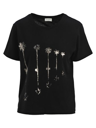 Saint Laurent Palms Print T-shirt