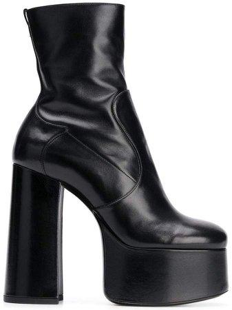 platform heel ankle boots