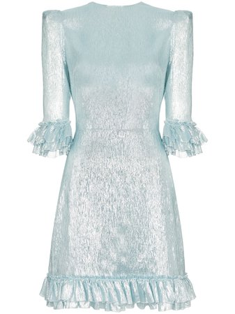 Blue The Vampire's Wife Festival Lamé Mini Dress | Farfetch.com