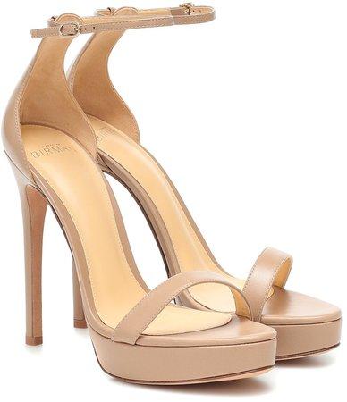 Cindy leather platform sandals