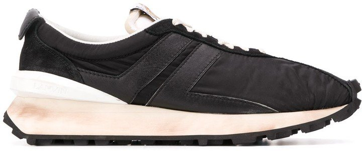 Bumper ridged sole sneakers