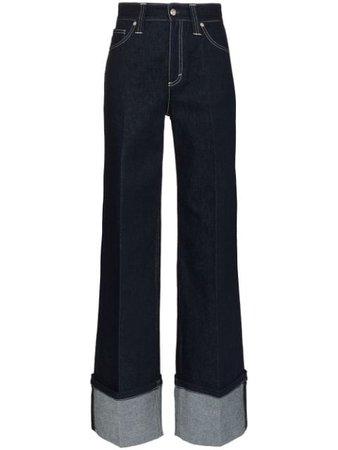 Chloé Wide-Leg Jeans CHC20SDP03151 Blue   Farfetch