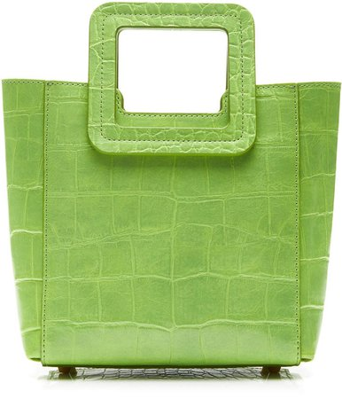 Shirley Mini Croc-Effect Leather Tote
