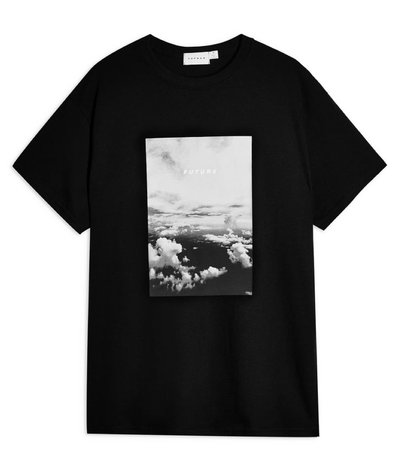 top man black tee