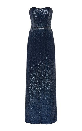 Strapless Sequined Dress by Jenny Packham | Moda Operandi