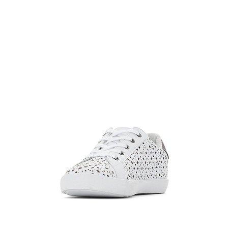 Lace detail trainers , white, La Redoute Collections Plus | La Redoute