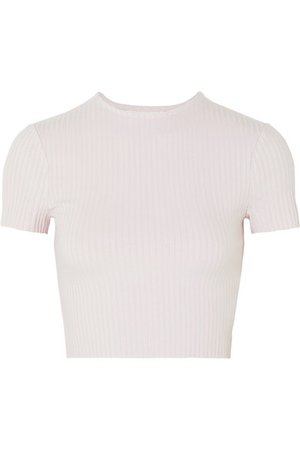 calé | Esmée cropped ribbed stretch-jersey T-shirt | NET-A-PORTER.COM