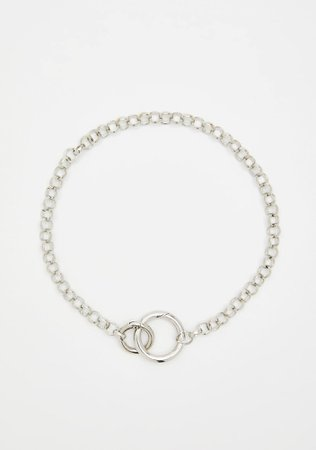 Chain Necklace O-Ring Silver | Dolls Kill