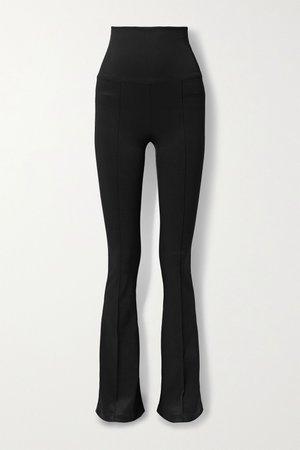 Black Stretch-jersey flared leggings | Helmut Lang | NET-A-PORTER