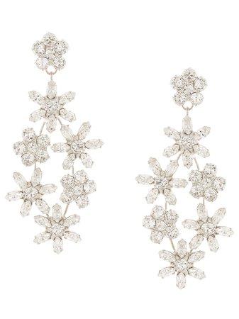 Jennifer Behr Embellished Flower Earrings | Farfetch.com