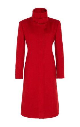High Neck Wool Coat by Carolina Herrera | Moda Operandi