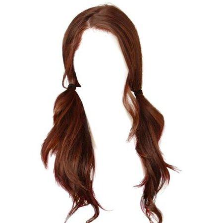 auburn red/brown hair png moodboard
