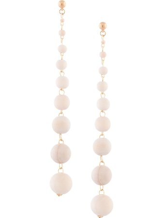 Oscar De La Renta Wood Bead Drop Earrings - Farfetch