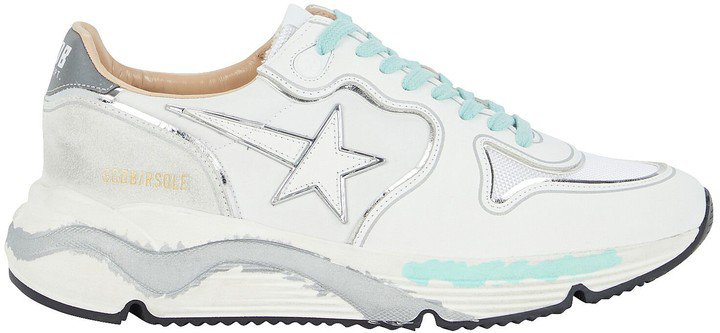 Running Sole Leather Sneakers
