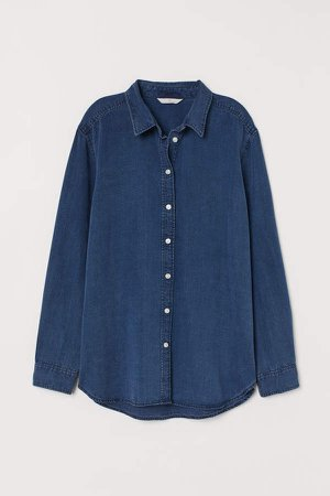 Lyocell Denim Shirt - Blue