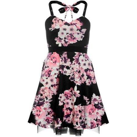 Dorothy Perkins **Quiz Flower Print Halterneck Dress