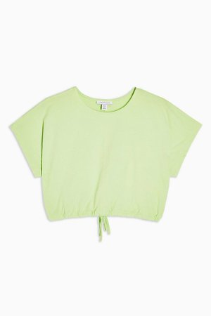 Green Bubble Hem Crop Top | Topshop