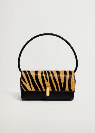 Τσάντα δέρμα baguette εμπριμέ - Γυναίκα | Mango ΜΑΝΓΚΟ Ελλάδα