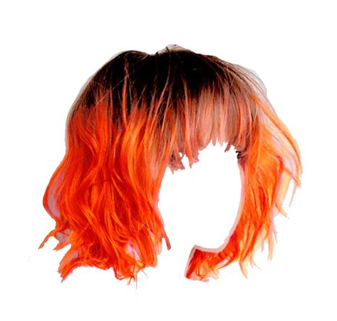 messy orange bob