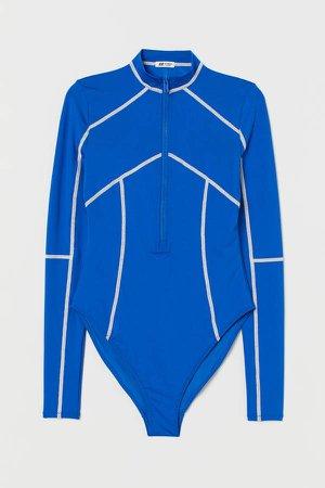 Long-sleeved Swimsuit - Blue