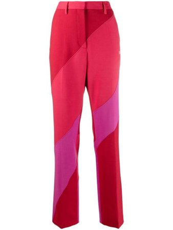 Shop Off-White Spiral panelled tailored trousers with Express Delivery - FARFETCH