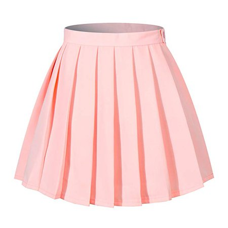 High Waisted Pleated Skirt - Pink