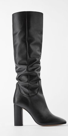 Zara black leather boots