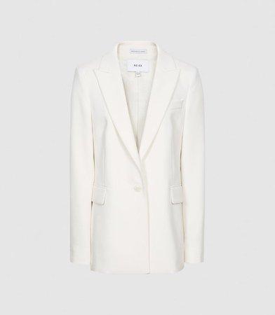 Leah White Tailored Blazer – REISS