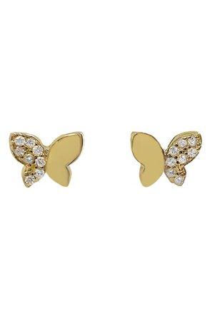 Adina's Jewels Butterfly Stud Earrings | Nordstrom