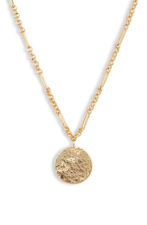 gorjana Banks Coin Pendant Necklace | Nordstrom